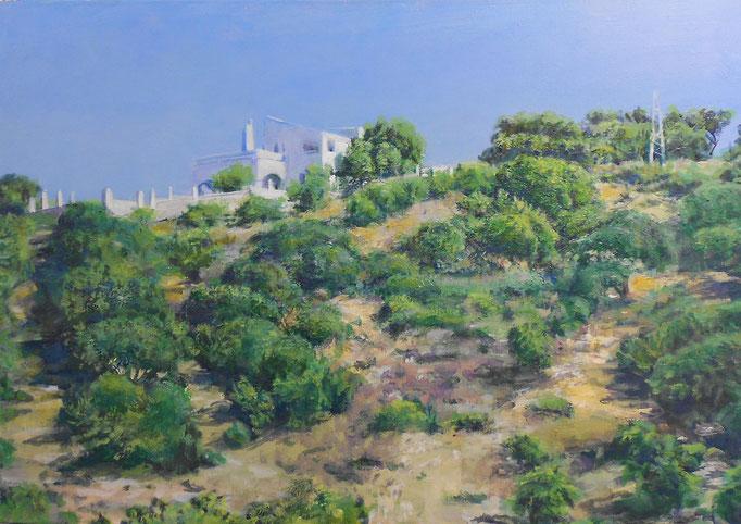 """Bei Malaga (Andalusien)"", Acryl, 100x70cm, 2011"