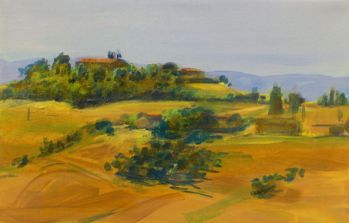 """Toscana, Le Crete VII"", 30x20cm, 2016"