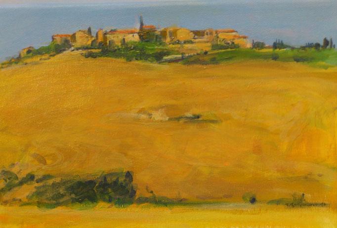 """Toscana, Le Crete VI"", Acryl, 30x20cm, 2016"