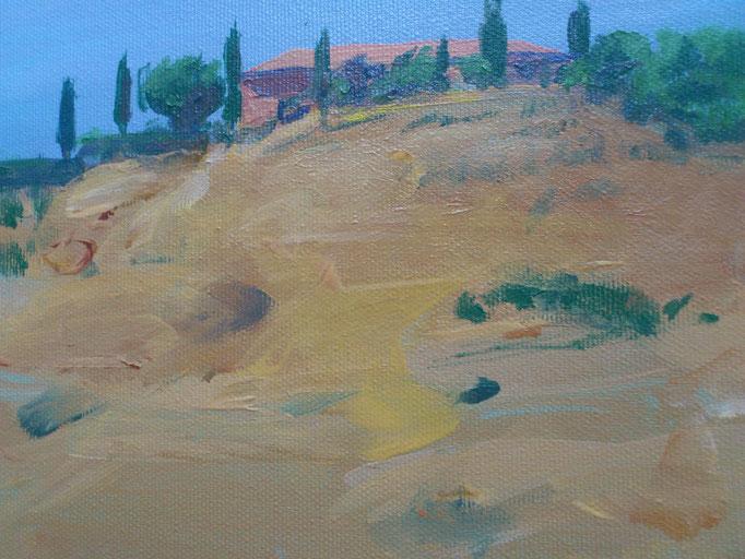 """""""Toscana, Le Crete VIII"""", Acryl, 30x20cm, 2016"""