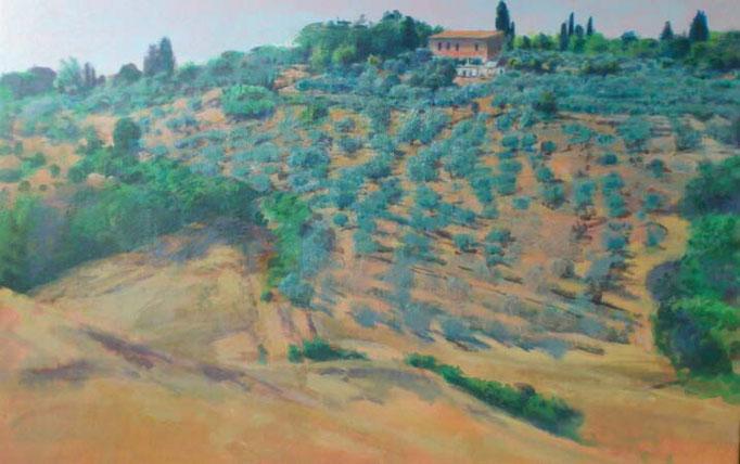 """Hügel bei Montespertoli (Toscana), Öl/Acyl, 120x90cm, 2013/14"