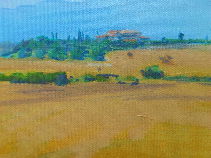 """Toscana, Le Crete II"", Acryl, 24x18cm, 2016"