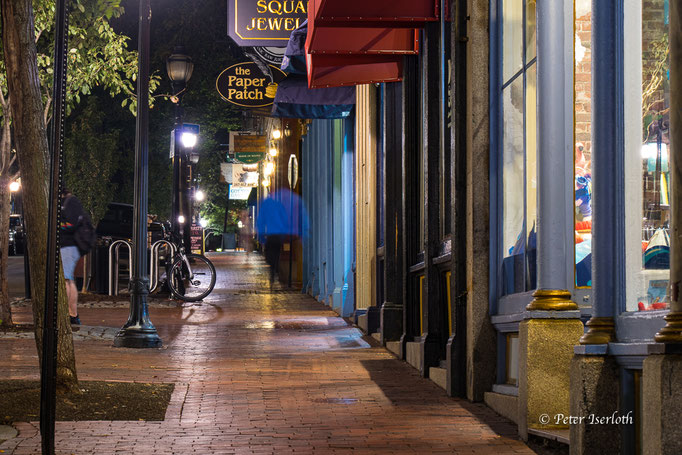 abends in Portland, Maine, USA