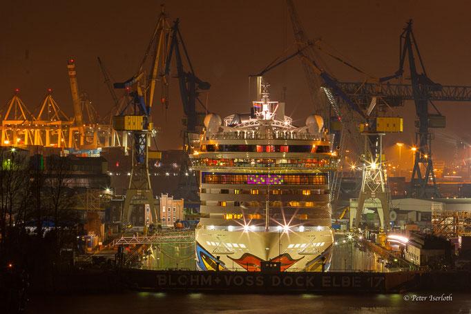 AIDAluna küsst die Elbe - Dock Elbe 17 - Hafen Hamburg - Germany