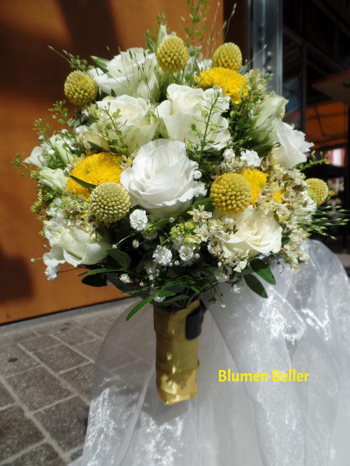 Brautstrauß gelb/weiß