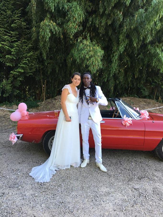Magnifique robe de mariée mousseline et dentelle Sylvie Berry Couture