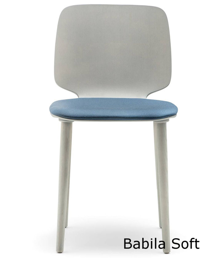 Babila  silla comedor diseño sillon moderno   madera tapizada Pedrali  Barcelona lacadira.com