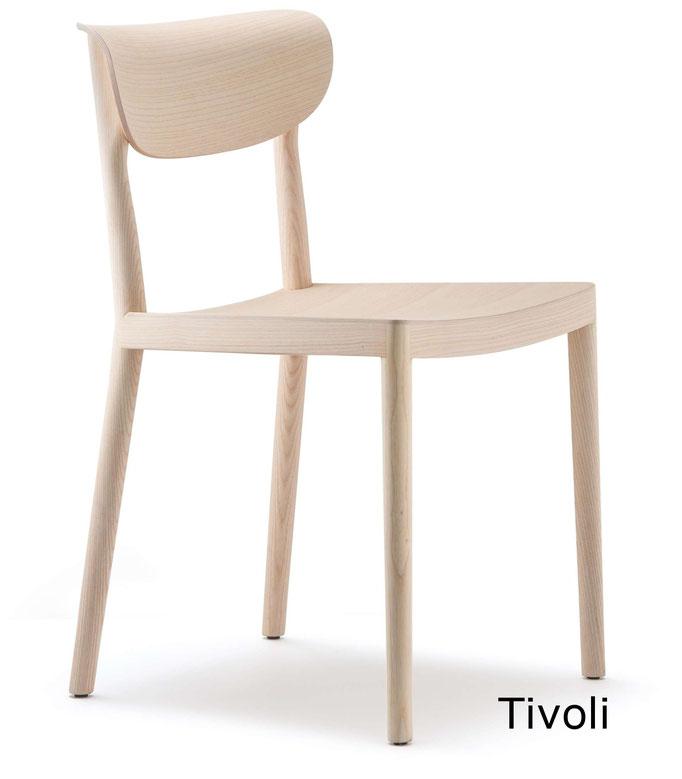 Tivoli  silla comedor diseño sillon moderno   madera tapizada Pedrali Barcelona lacadira.com