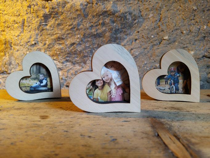 kleine Bilderrahmen aus Zirbenholz