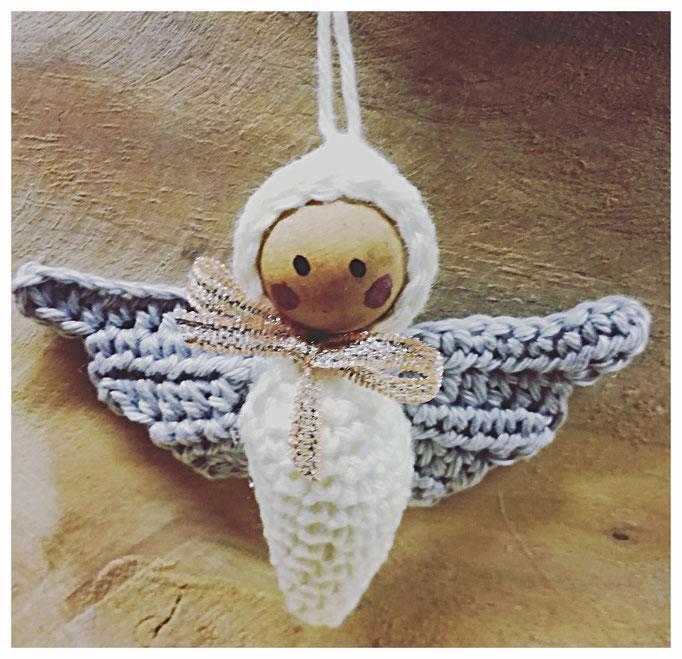 1 ANGEL CHRISTBAUMSCHMUCK Gehäkelt, Weihnachten, Handarbeit ... | 659x682