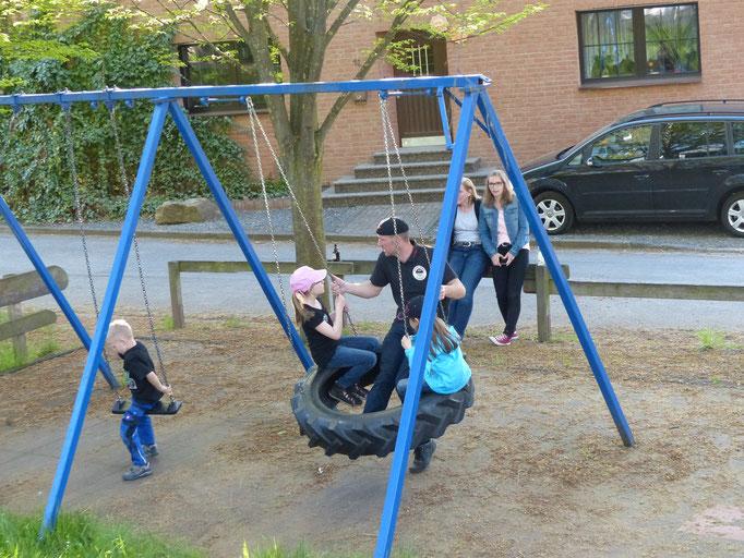 Auch die Kinder haben Spaß