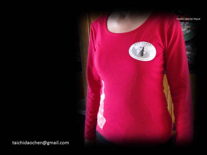 Polera Mujer Manga Larga cuello Redondo para práctica de TaiChi en WCTA Chile (ex  CXWTA Chile)