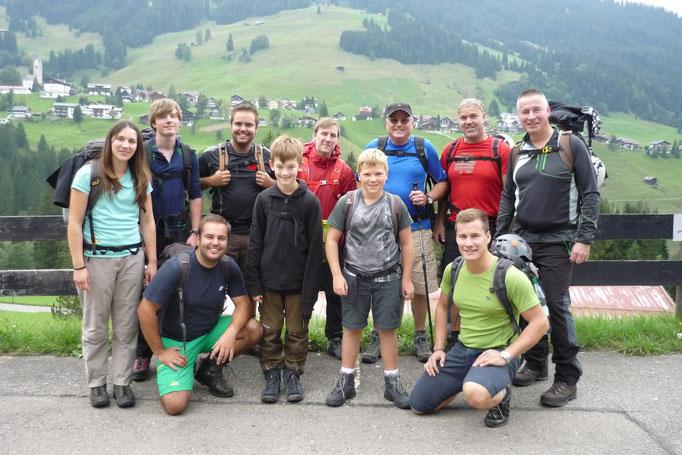Los gehts von Mittelberg zur Fidererpasshütte
