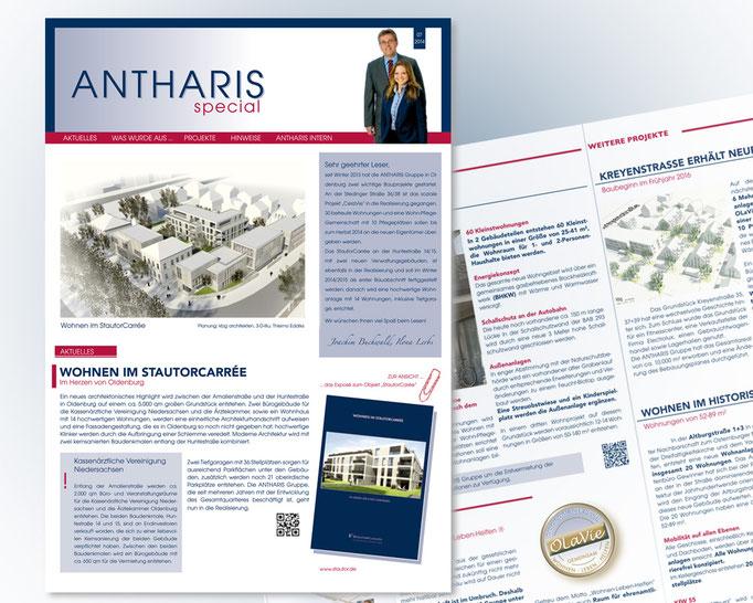 ANTHERIS Newsletter mit Informationen zu aktuellen und zukünftigen Bauvorhaben und Projekten.
