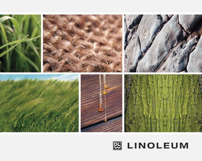 DLW Linoleum Umweltbroschüre mit Unternehmensdarstellung und Zielen