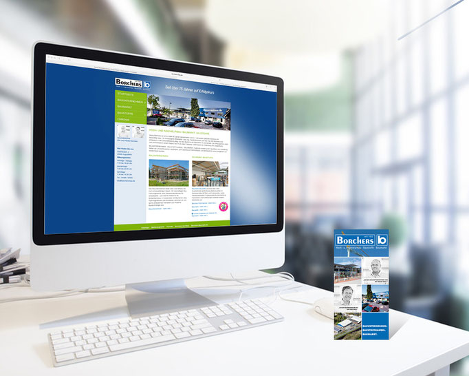Internetauftritt des Borchers Bauunternehmen. Homepage.