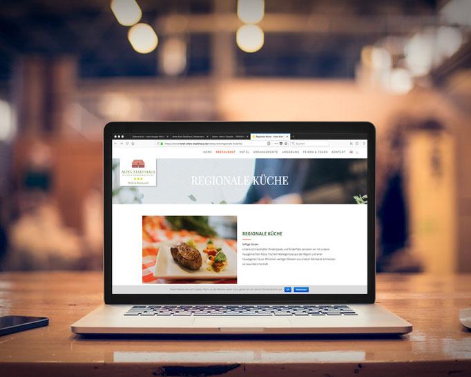 Hoemepage des Hotel und Restaurant in Westerstede / Ammerland. Online seit April 2018.