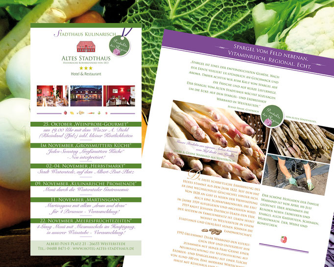 Album und Kulinarischer Kalender zu Produkten der Region.