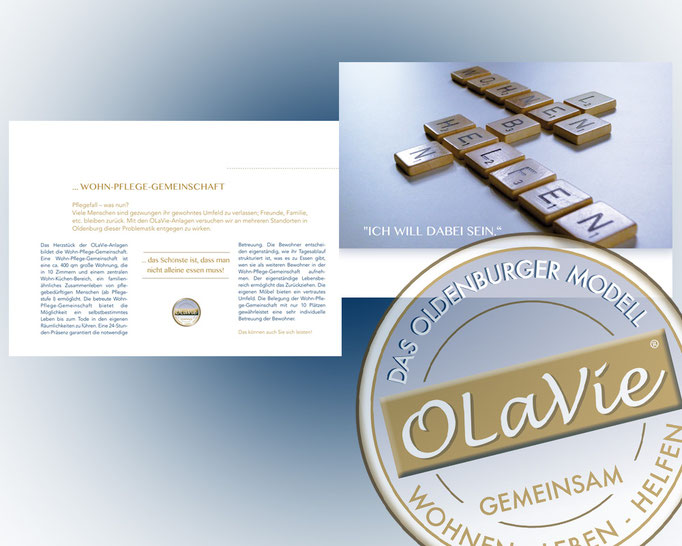 Wort und Bildmarke zum Projekt OLaVie. Siegel für Kompetenz und Vertrauen.