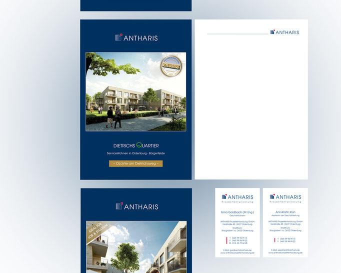 Corporate Design der ANTHARIS Gruppe.