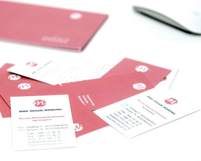 Logo Design und Geschäftsausstattung MWD Design und Werbung