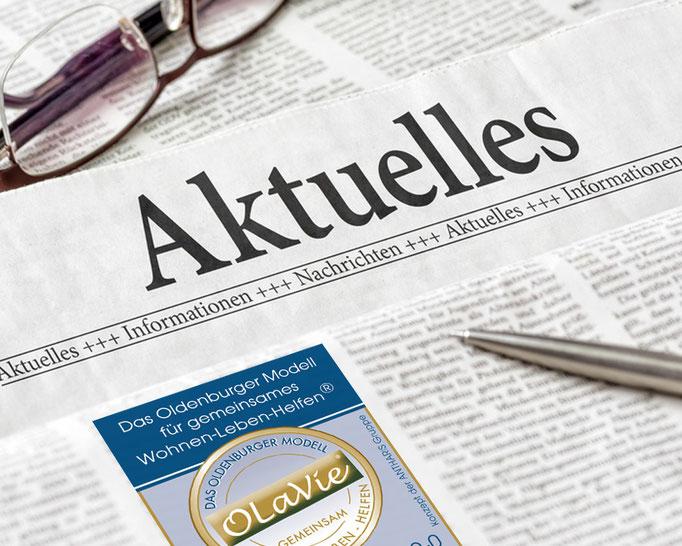 Zeitung Anzeige zum Projekt Olavie.
