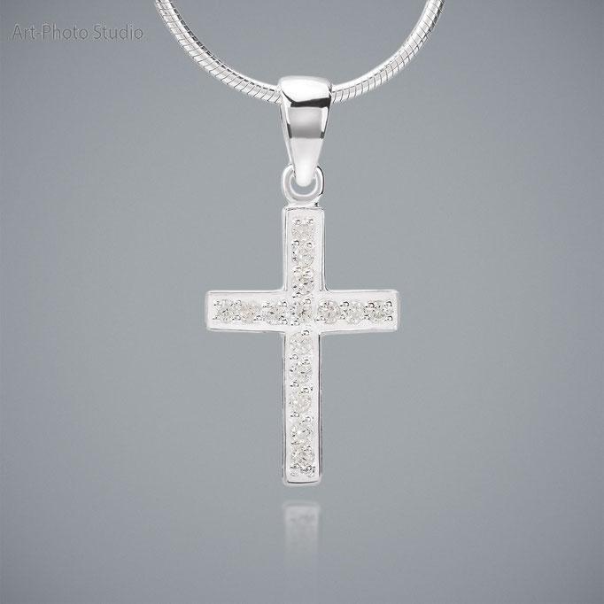 ювелирные украшения из серебра - подвеса в виде крестика