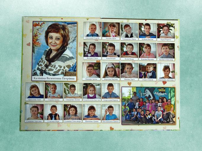 подарочный выпускной фотоальбом - разворот фотокниги