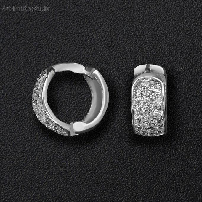 фотосъемка ювелирных украшений - серебряные  серьги