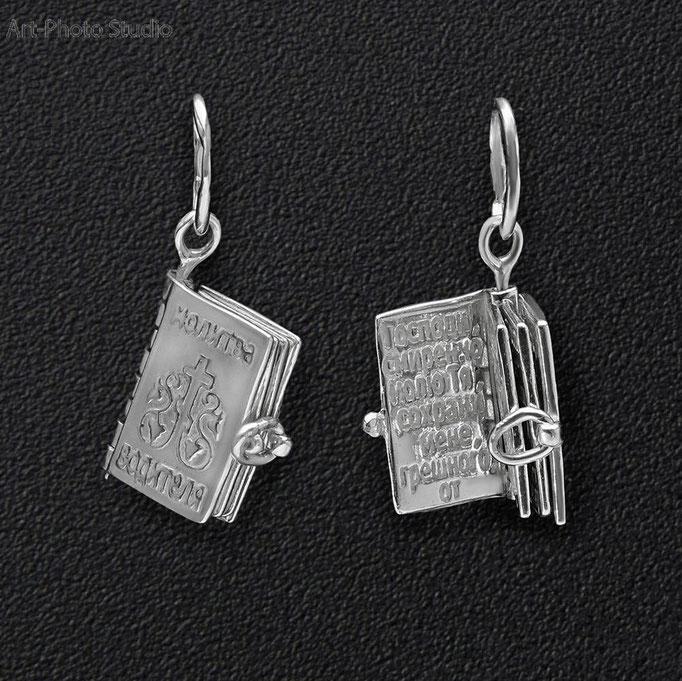 предметная съемка ювелирных украшений из серебра - подвесы