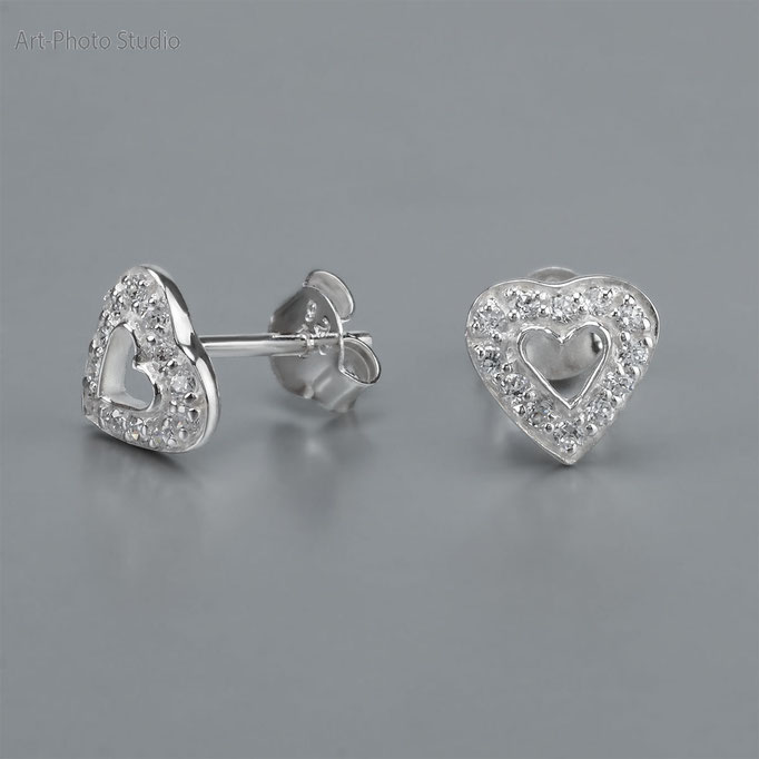 ювелирные изделия из серебра - серьги-пусеты