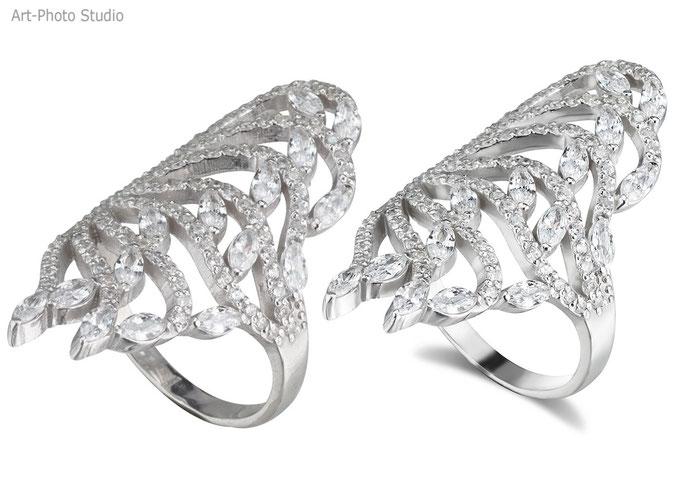 Ретушь ювелирных изделий - серебряные кольца