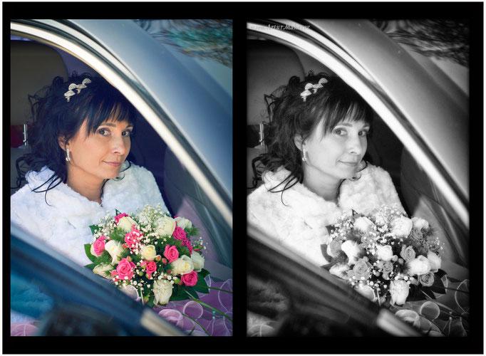 вариант ретуши свадебного фото