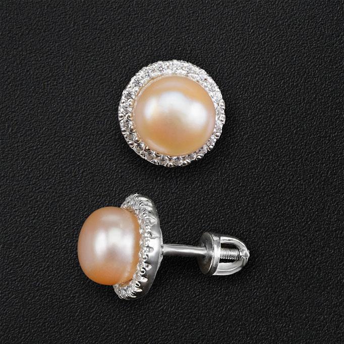 фотосъемка ювелирных изделий - серебряные  серьги