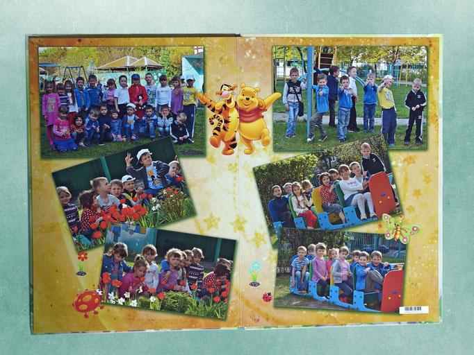 выпускной фотоальбом - разворот фотокниги