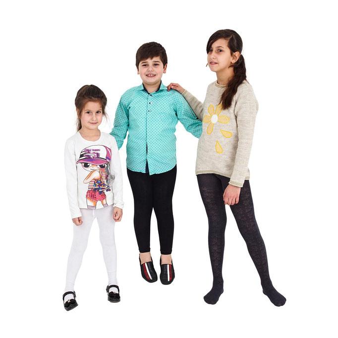 предметные фото детских колгот на моделях в Харькове