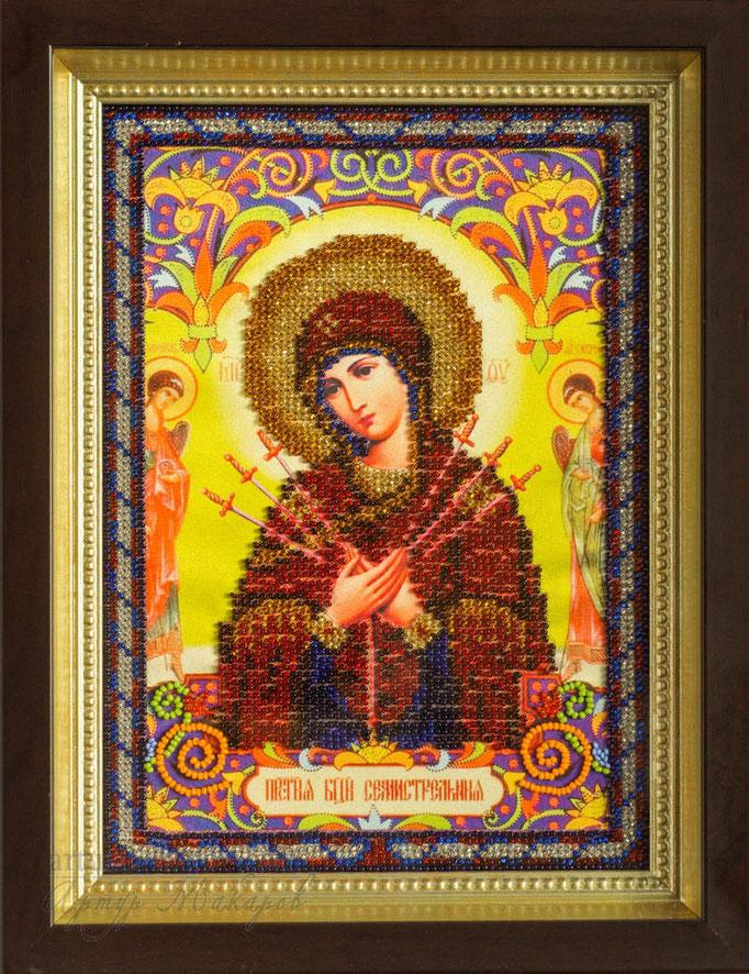 картина, вышитая бисером - православная икона
