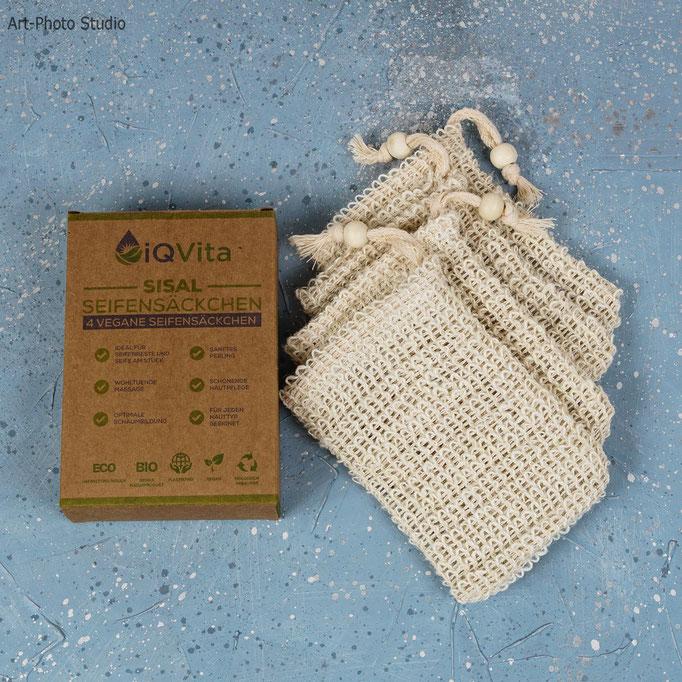 фото мешочков для мыла от TM iQVita - фотосъемка для Amazon