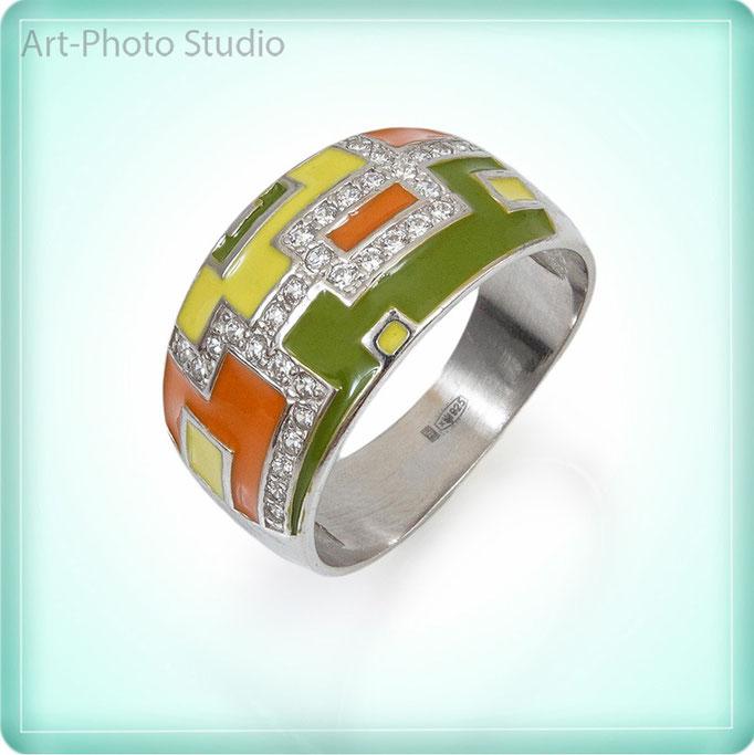 предметная съемка ювелирных изделий из серебра в Харькове - кольцо