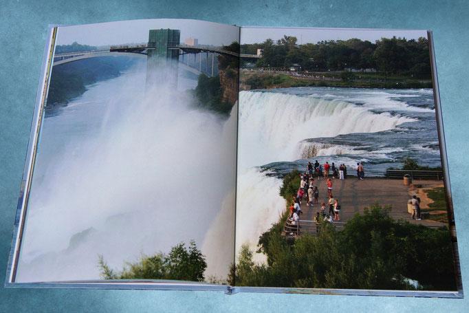 Ниагарский водопад - на полном развороте фотокниги