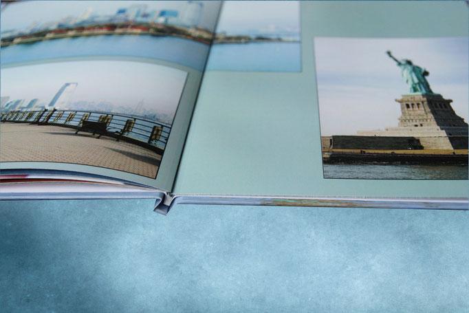 Разворот полиграфической фотокниги - раскрытие на 180 градусов