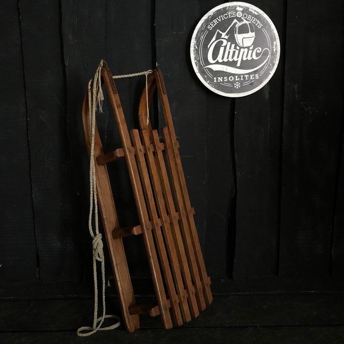 luge bois vintage altipic ref016 RESERVE