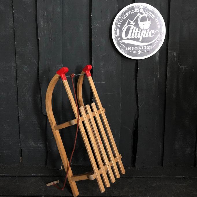 luge bois vintage altipic ref019 RESERVE