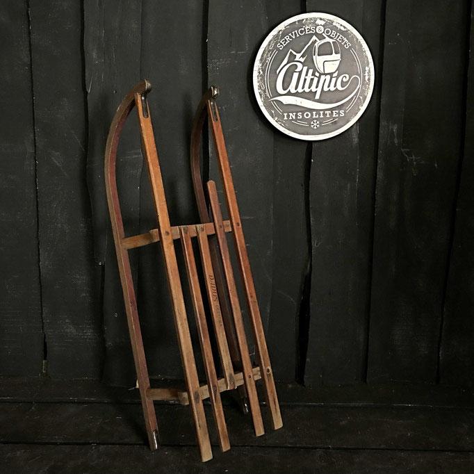 luge bois vintage altipic ref017 RESERVE