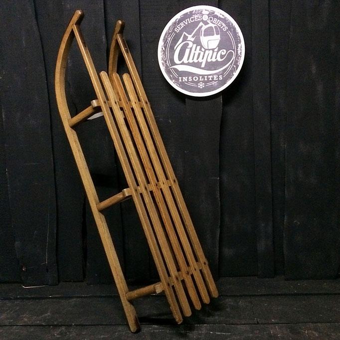 luge bois vintage altipic ref010 RESERVE