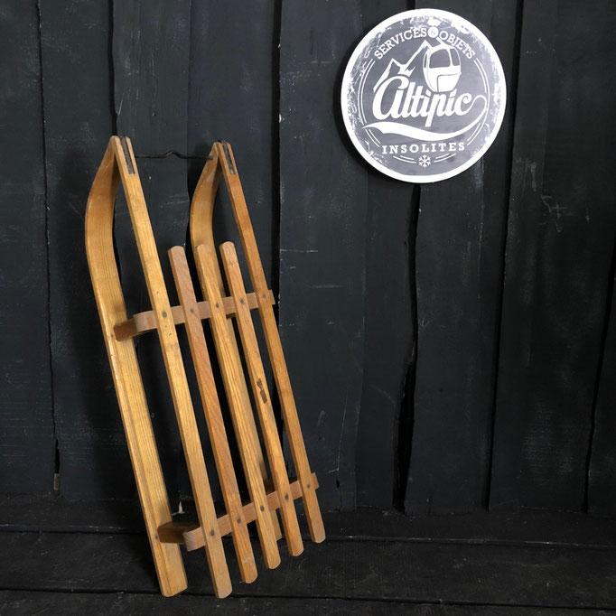 luge bois vintage altipic ref014 RESERVE