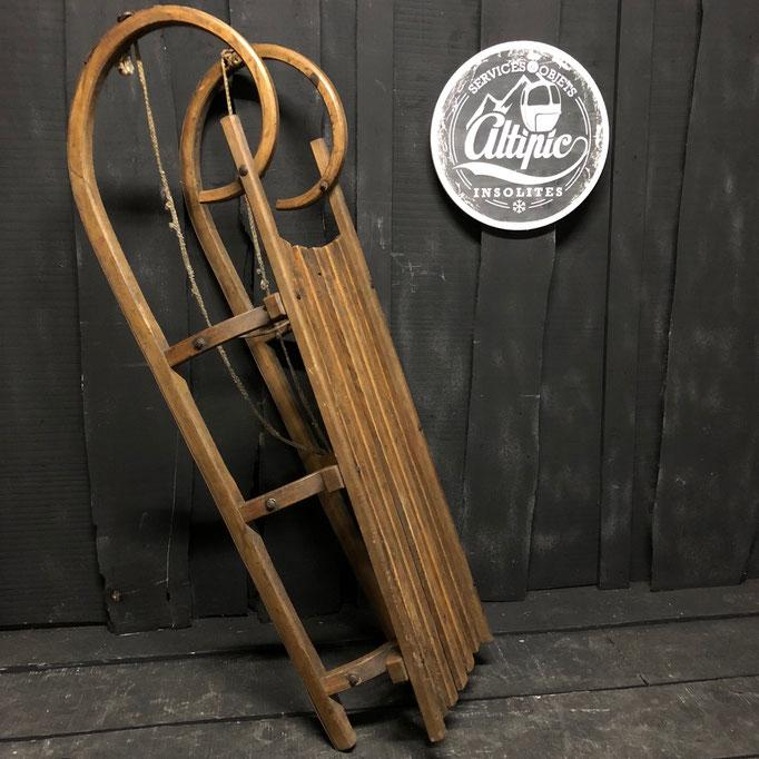 luge bois vintage altipic ref013 RESERVE