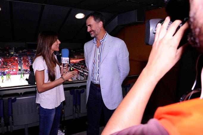 Entrevista al Rey Felipe VI en el Mundobasket 2014