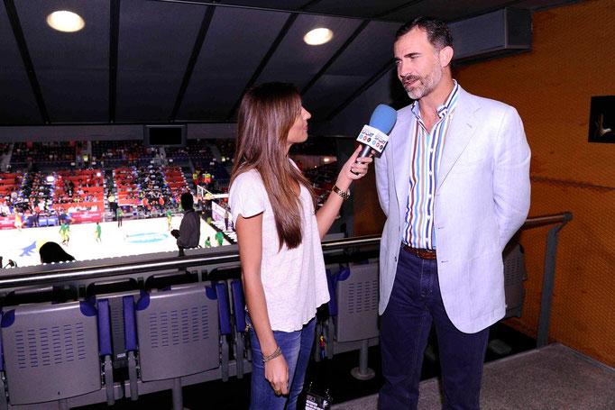 Entrevista a su majestad el Rey Felipe en el Mundobasket