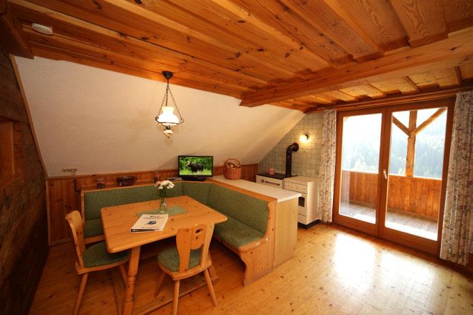 Fewo Talblick - Wohnküche mit Essecke